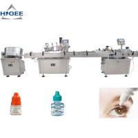 Quality High Accuracy Bottle Filling Capping And Labeling Machine For Eye Drop for sale