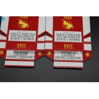 Buy cheap Eco - Friendly Customized Cardboard Cigarette Boxes / Tobacco Red Packet from wholesalers