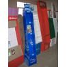 Full Color printed cardboard book display with pockets / cardboard magazine display