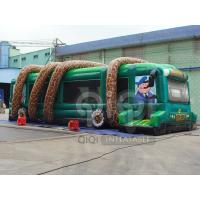 Quality Inflatable Jungle Bus Obstacle Game for sale