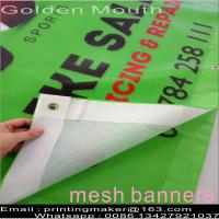 Quality 9*9 Full Color Pvc Mesh Banner Printing for sale