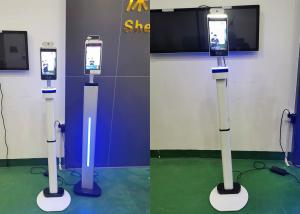 """Quality 8"""" 10"""" LCD Screen dynamic 200W Pixels Infrared Thermal Scanner face recognition access control system safe temp. kiosk for sale"""