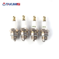 China Gasoline Scooter Spark Plugs Ceramic Material 12.7mm Thread Size Heat Resistant on sale