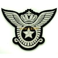 Buy Laser Cut Clothing Embroidered Patches , Apparel Iron On Embroidered Badges at wholesale prices