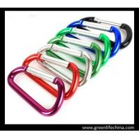 Quality Professional 6cm aluminum carabiner standard D shape not for climbing colorful carabiners for sale