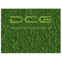Quality PE Beautiful Artificial Grass For Pets , Dog Friendly Fake Grass Olive Shape for sale