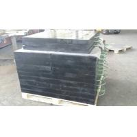Buy 600x600x50mm uhmwpe plastic crane outrigger pad black color with nylon handle at wholesale prices
