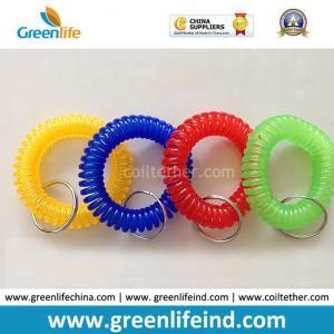 Quality Hot Sales Big Quantity Transparent Round Wrist Key Coil Holders for sale