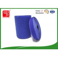 Quality Blue velcro tape customized adhesive backed hook and loop tape 100% nylon material for sale