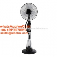 """Quality 16 inch electric misting stand fan with remote control and LED for office and home appliances/16"""" mist  standing fan for sale"""