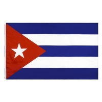 Buy cheap Cuba 100% Polyester Custom Country Flag Silkscreen Printing 110g 90x150cm from wholesalers