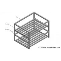 Quality Custom Made Wire Shelving 2 Layers Foldable Double Deep Light Metal Shelving For Battery for sale