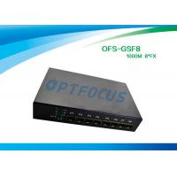 Best 8 Port 12 Gbe SFP Fiber Optic Ethernet Switch 100 BASE - Fx DC5V 1A Power supply wholesale