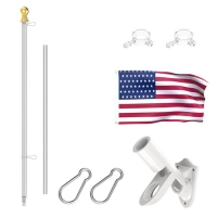Quality Length 6ft Rust Free Coated Aluminum Flag Pole Bracket For House for sale