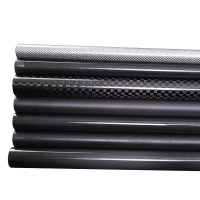 Quality 3k Glossy Twill Adjustable Carbon Fiber Telescopic Pole for sale