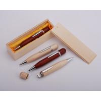 Buy cheap eco usb wood pen flash drive with free logo engraved from wholesalers