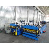 Quality Automatic PLC Controlled Tile Roll Forming Machine For Steel Metal Glazed Tile for sale