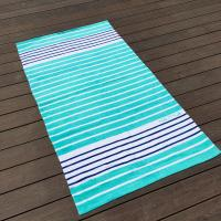 Quality Sunscreen Extra Large Thick Beach Towels Blue White Stripe 35 X 68 for sale