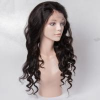 Virgin Human Hair Lace Front Wigs No Shedding For Black Woman , Medium Brown Color for sale