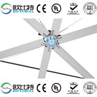 Buy suzhou OPT 24ft industrial HVLS fans with big air circulation and comfortable at wholesale prices