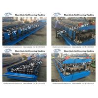 Quality 5 Tons Decoiler Galvanized steel Metal Deck Roll Forming Machine With Hydraulic Cutting For Roofing for sale