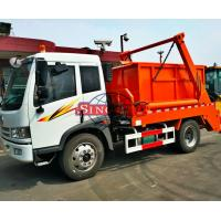 Quality Brand FAW Skip Loader Waste Collection Trucks Power Assistant LHD / RHD Steering for sale