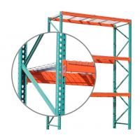 Quality Industrial Selective Pallet Racking Systems Teardrop Style 700 - 1200mm Racking Depth for sale