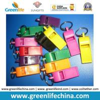 Quality Muti-Colors Good Quality Plastic Promo Whistle Gifts w/Split Key Ring for sale