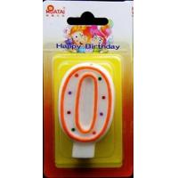 Quality Best-selling unique polka dot number birthday candle for sale