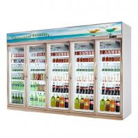 Quality Shop Commercial 5 Glass Door Refrigerator Freezer Fan Cooling Type for sale