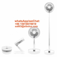 Quality rechargeable small table dc stand portable desktop foldable electric fan floor fan/standing fan for sale