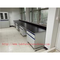 Quality 1500 mm   Width  Steel Wood Frame Blue /  White Science Lab Testing Tables Used  Furniture For High School / Hospital for sale