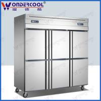 Quality 6doors 201/304 stainless steel kitchen commercial refrigerator chiller fridge freezer for sale