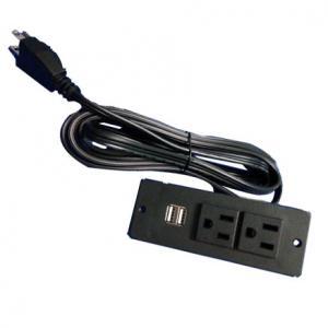 Quality USA power strip with 2 usb ports UL socket furniture socket for sale