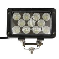 Quality Rectangle 33 W Automotive LED Work Lights Toughened Glass Lens Epistar 4.3 Inch for sale