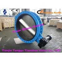 Quality Water Cast Iron U Type Butterfly Valve Double Flanged With DN1200 for sale