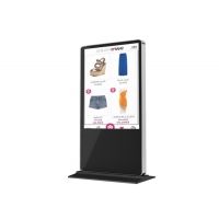 Quality Floor Stand Digital Signage 43 Inch Mobile Phone Charging Kiosk Street Pole Advertising LCD Digital Signage for sale