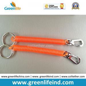 Quality Delux Orange Safe Spiral Coil W/Metal Swivel Hook&Split Ring for sale
