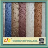 China Classical Color Embossed Pvc Automobile Upholstery Leather Fabric 0.6 - 1.2mm Thick on sale