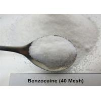 Quality 99.97% USP36 Local Anesthetic Benzocaine 40 Mesh / 200 Mesh White Crystal Powder for sale