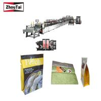 China Fully Auto Plastic Bag Making Machine , Four Sides Seal Box Pouch Making Machine on sale