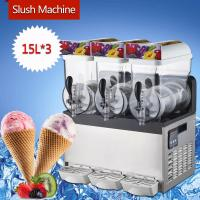 Buy cheap 300W Stainless Steel Ice Slush Machine / 15L×3 Smoothie Slush Machine For from wholesalers