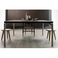 Quality Wood Top Rectangle Modern Dining Room Tables Stainless Steel European Design for sale