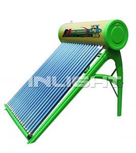 300L galvanized steel no pressure vacuum tube solar water heater