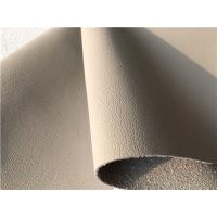 Quality PU Coating Leather Car Upholstery Fabric Beige Auto Upholstery Fabric for sale