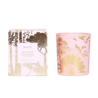 Quality M&SENSE 150g Gold Stamping Glass Private Label Soy Wax Luxury Candles for sale