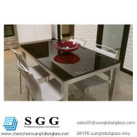 Quality 1024x612mm Grade A High quality black back painted glass table top for sale
