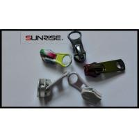 Quality Rainbow #5 metal puller and colorful plating nylon zipper slider for decoration for sale