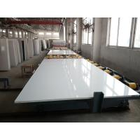 Quality Pure White Quartz Stone Slab Customized Exporting Countertop 3000 X 1400 Mm Size for sale