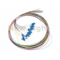 Quality LC / UPC SM 12 Core Single Mode Fiber Optic Cable Color Coded Fiber Optic Pigtail for sale